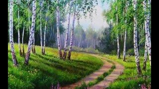 """Мастер класс по живописи """" Как нарисовать русский пейзаж """""""