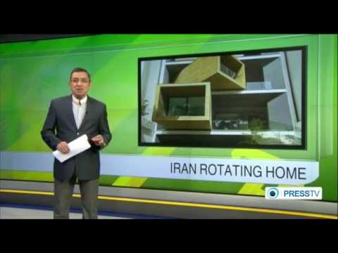 Iranian architect builds rotating home in Tehran ساخت خانه چرخشي در تهران
