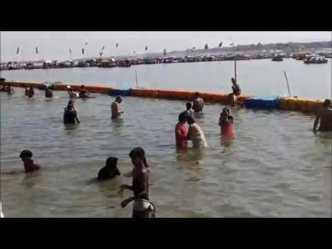 Holi Open Bath in Sangam Prayagraj, Kumbh Mela -2019