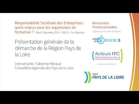Présentation générale de la démarche de la Région Pays de la Loire - Fabienne Renaud