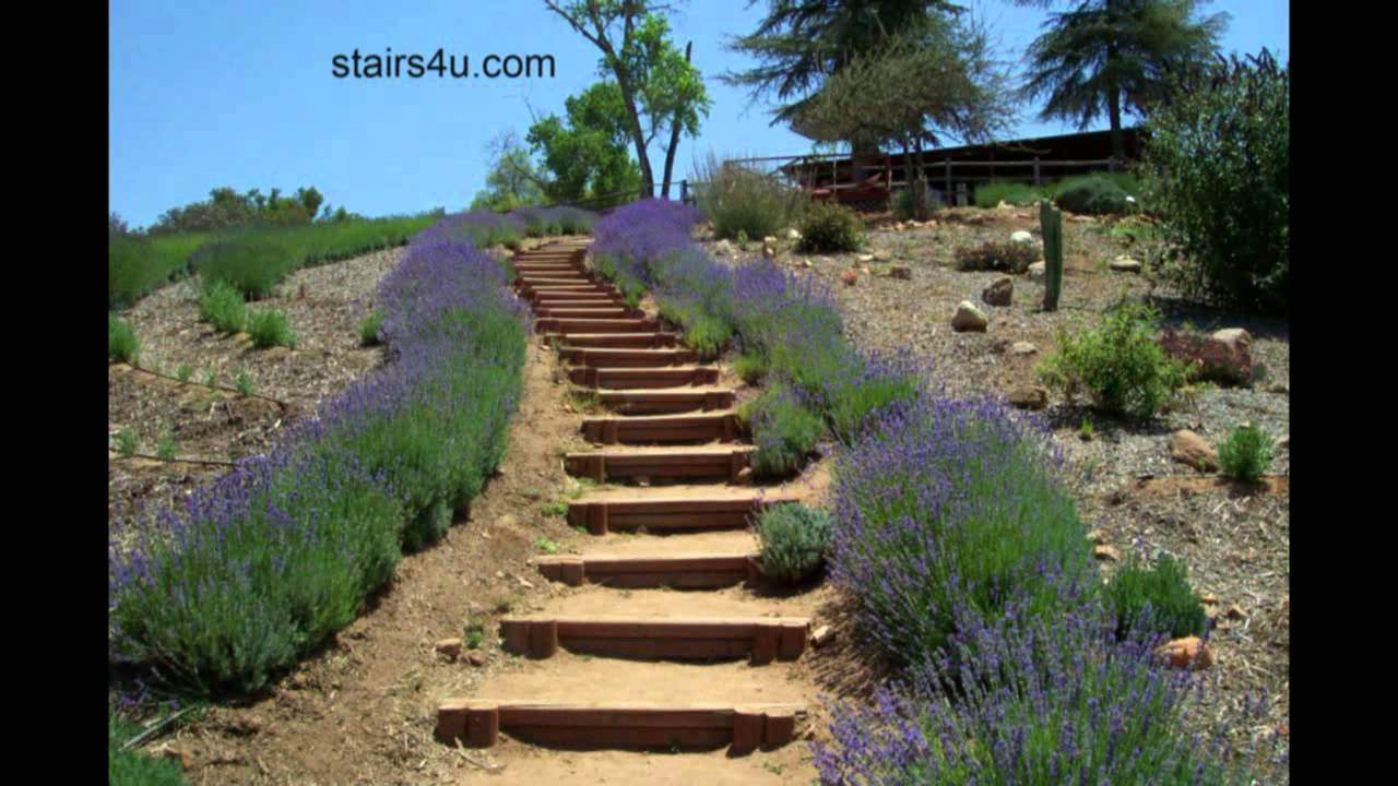 Idea For Long Hillside Stairways - Landscaping And Design - YouTube