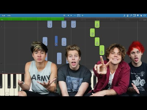 5 Seconds of Summer  Girls Talk Boys  Piano Tutorial Ghostbusters Soundtrack