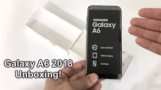 Samsung Galaxy A6 2018 Unboxing & First Look - Blue