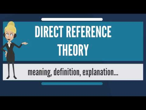What is DIRECT REFERENCE THEORY? What does DIRECT REFERENCE THEORY mean?