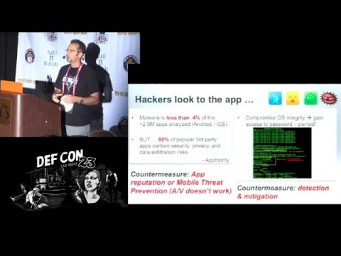 DEF CON 23 - Packet Hacking Village - Mobile Data Loss - Threats & Countermeasures