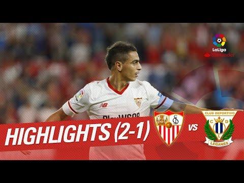 Resumen de Sevilla FC vs CD Leganés (2-1)