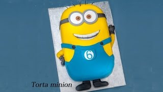 Torta minion, Minion Cake Fondant Tutorial