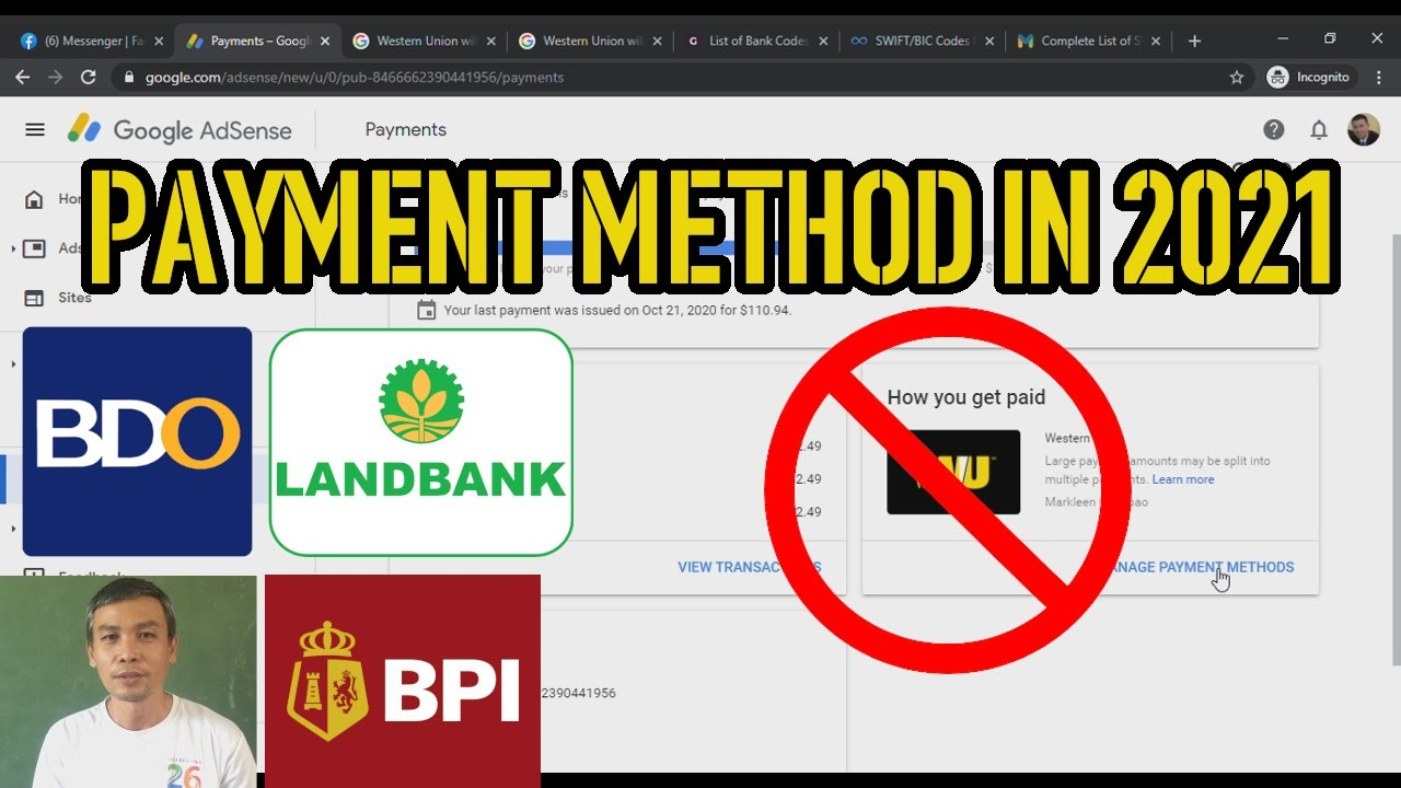 Payment Methods in 2021 | Google Adsense