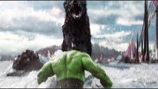 Thor ragnarok 2017: Hulk Vs Giant Wolf (Fenrir) Fight Scene HD