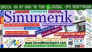 Siemens Sinumerik Hinumerik CNC servo motor chatter,servo drive error codes, encoder direction
