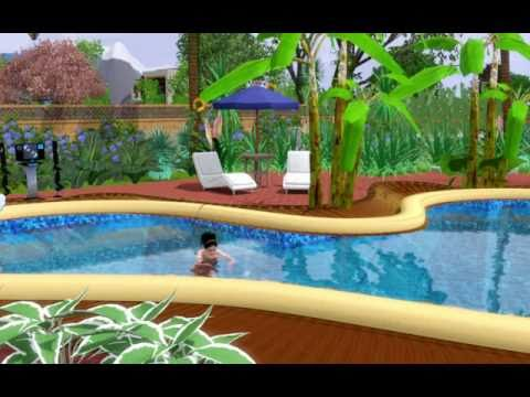 The sims 3 pool party not my house all credit goes to for Pool design sims 3