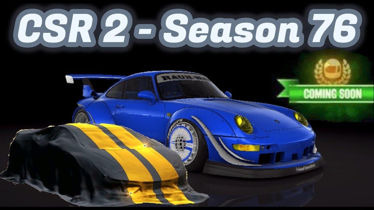 CSR2 | Season 76 | Next Prestige, Crew & Evo Cup Cars Info!