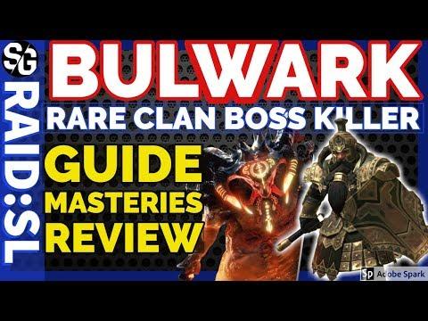 [RAID SHADOW LEGENDS] BULWARK CLAN BOSS KILLER REVIEW GUIDE SPOTLIGHT MASTERIES