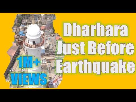 Dharhara of Kathmandu Nepal Just Before Earthquake