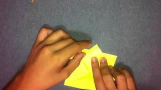 Girasol de origami - Hacer figuras de papiroflexia
