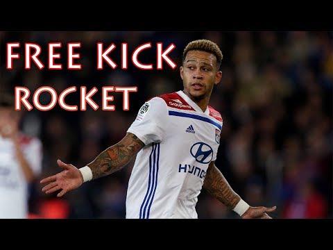 Memphis Depay UNBELIEVABLE Free Kick Goal (Guingamp vs Lyon 2:4)