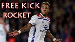 Memphis Depay UNBELIEVABLE Free Kick Goal (Guingamp vs Lyon 2:4)