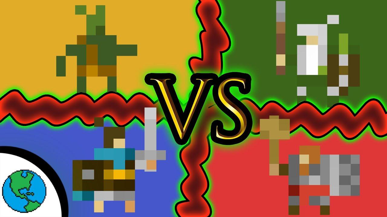 4 Empires Fight For Dominance! (broken mic) -WorldBox