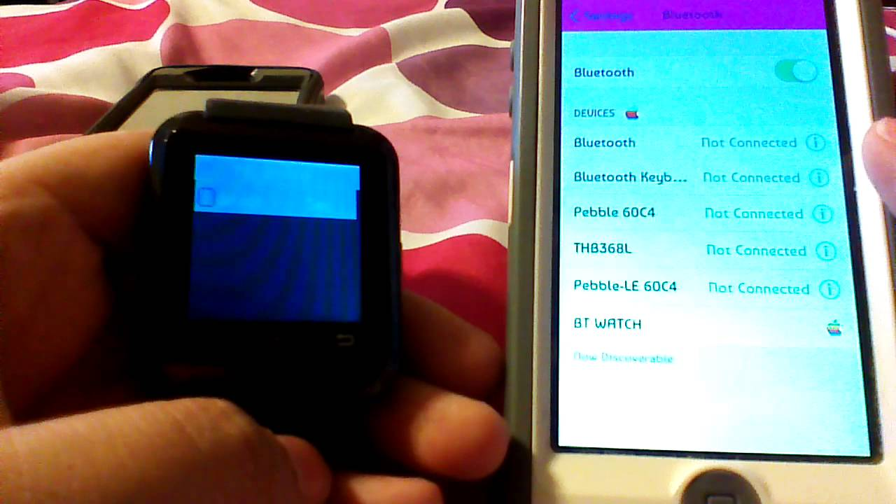 How to connect the U8 Smart Watch to iPhone 4/5