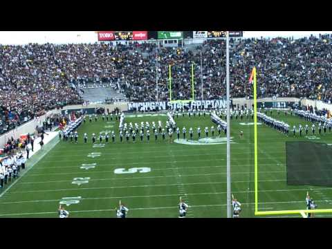 MSU Marching Band pre game vs. Michigan 10-15-11