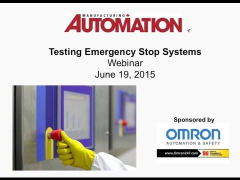 WEBINAR: Testing Emergency Stop Systems