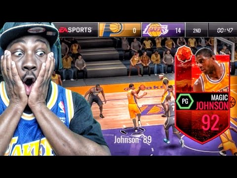 92 HARVEST LEGEND MAGIC JOHNSON IS A MONSTER! NBA Live Mobile 16 Gameplay Ep. 45