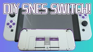 Nintendo Switch SNES Edition! DIY Switch Shell Replacement...