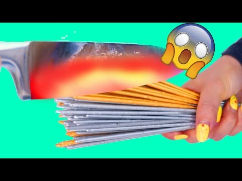 Thumbnail: 1000 DEGREE GLOWING KNIFE VS. 168+ SPARKLERS!!