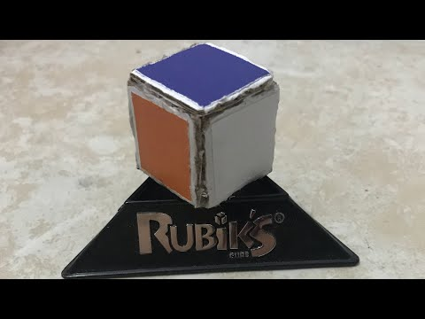 How to make a 1x1 Rubik's cube out of cardboard