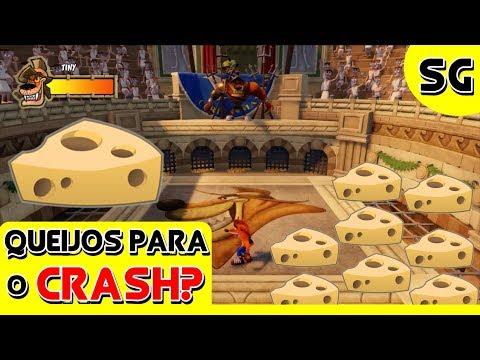 Crash Bandicoot 3 - Queijos para o Crash? (Curiosidade / Segredo) Troféu Tiny Trounced 🔴