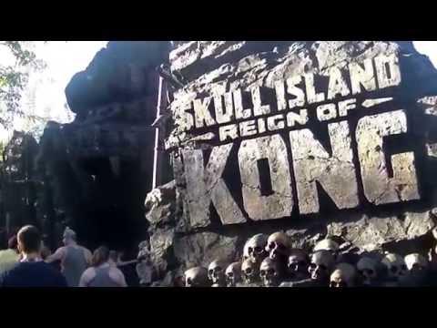 Skull Island Reign of Kong ride POV, Orlando Florida