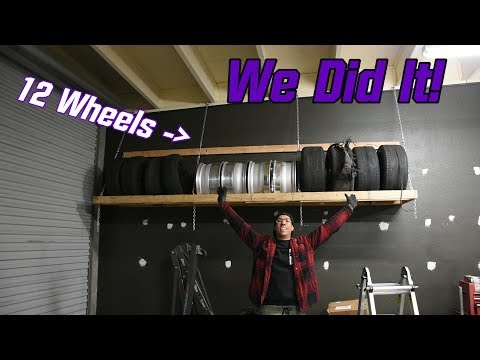WE DID IT! Massive Wheel and Tire Rack Complete!