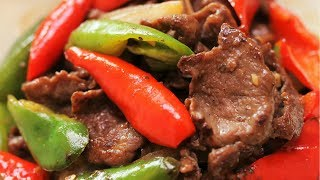 BETTER THAN TAKEOUT Pepper Steak - Chinese Beef Stir Fry Recipe