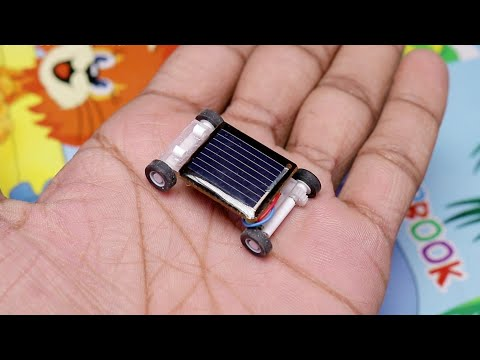 How To Make A Mini Solar Powered Car ( World Smallest )