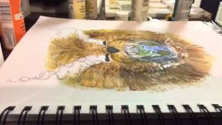 Time lapse drawing, The devil walks about like a roaring lion