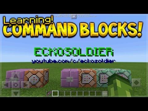 Learning Command Blocks Basics Minecraft Pocket Edition Command