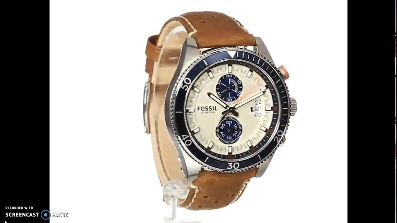 c15373685784 Reloj Fossil Hombre - Wakefield Stainless Steel Watch with Brown Leather  Band - YouTube