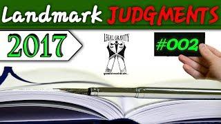 Landmark Judgments | 2017 | #002