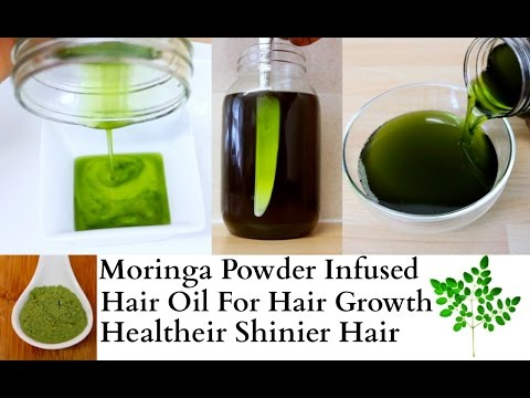 Overnight Hair Growth Treatment Thicker Healthier Shinier Natural Hair Moringa Powder Infused Oil