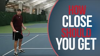 How Close To Get To The Net | Online Tennis Lessons | Net Position Explained