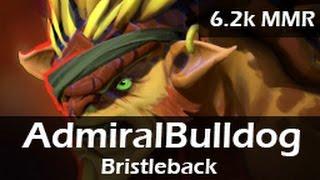 228: AdmiralBulldog as Bristleback Top ft. Bububu - 6.2k MMR Ranked Gameplay