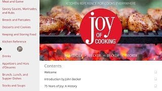 The Joy of Cooking iPad App