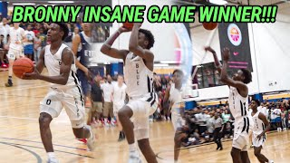 Bronny James Hit Another GAME WINNER! Fights Back From Injury For BLUE CHIPS! Jahzare & Gabe GO OFF!