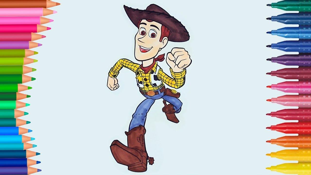 Oyuncak Hikayesi şerif Woody Boyama Boyama Kitabı Boyama