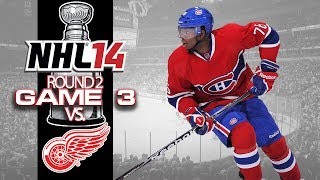 Let's Play Nhl 14 - Round 2 Game 3 Vs Detroit Red Wings
