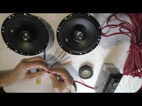 Два динамика и магнитола - подключение, как подключить магнитолу в машине