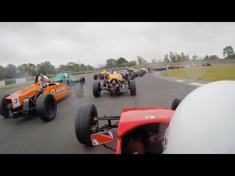 Irish Formula Vee 2015 - Round 7 - Mondello International 'A Race' [ON BOARD]
