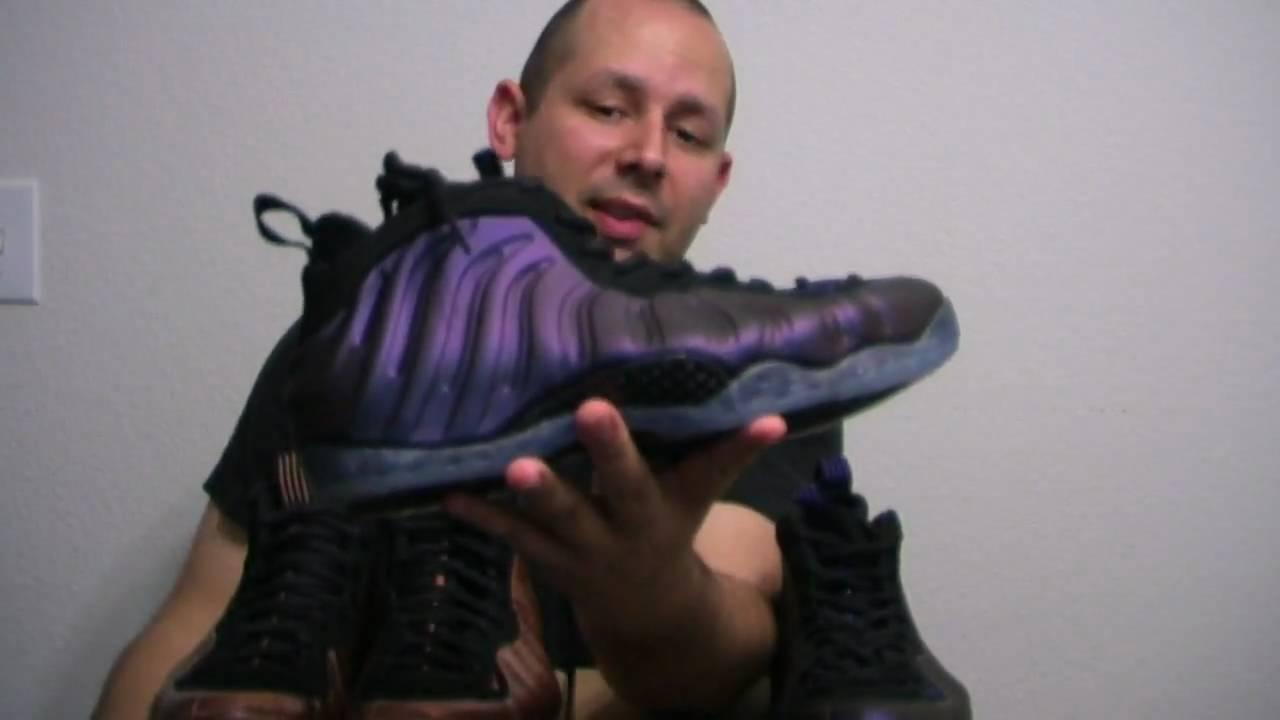 0b40432bc7a Review  Nike Air Foamposite - Eggplant Vs Copper Comparison - YouTube