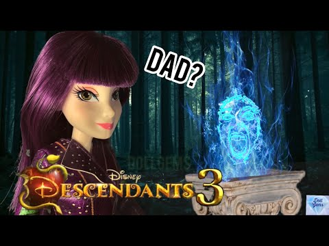 Mal's Dad Disney Descendants 3 Doll Story Episode DESCENDANTS 2 Dolls Disney Channel Dragon Mal Fly