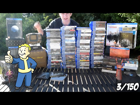 My PS4 Game Collection! (June 2016) 150 physical PlayStation 4 games